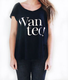 Wanted T-shirt Svart