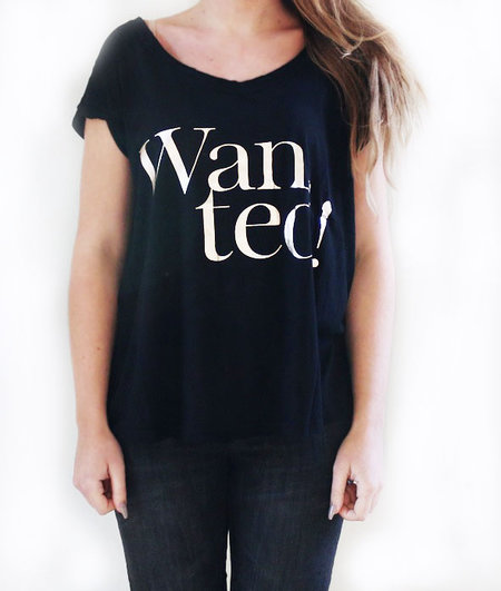Wanted T-shirt Black