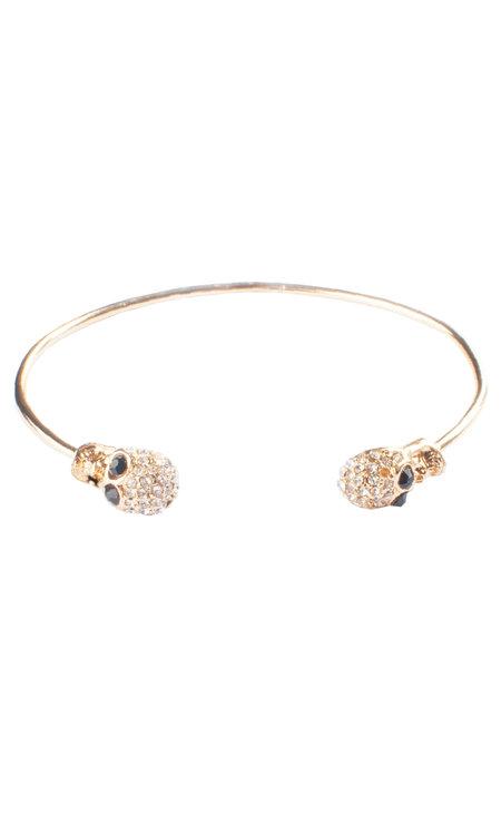 Double Skull Bracelet Gold