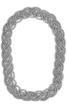 Twine Necklace Silver