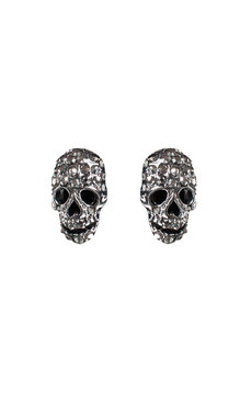 Multi skull earrings Black/Gun