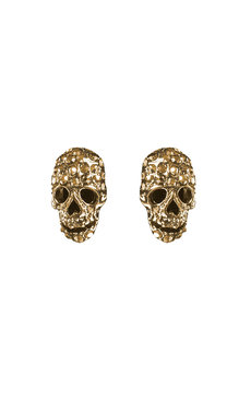 Multi skull earrings Gold