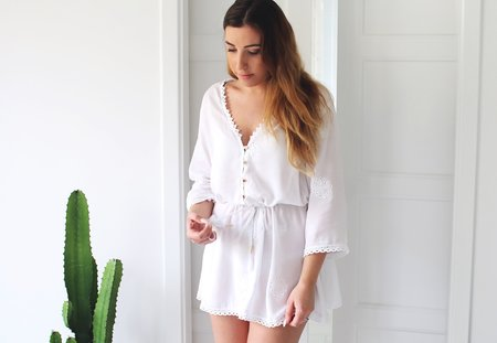 Melissa white tunic