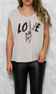 T-Shirt Love nude
