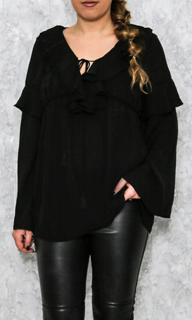 Valentina top black