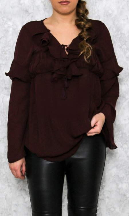 Valentina top winered