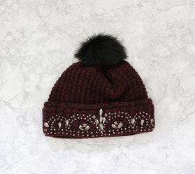 Jayla Hat  Vinröd