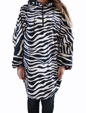 Audrey raincape Zebra