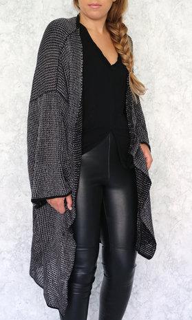 Broke long cardigan black