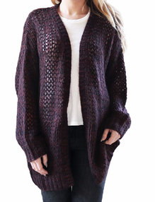Savannah cardigan Winered