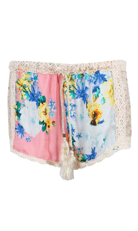 Shorts flower pink