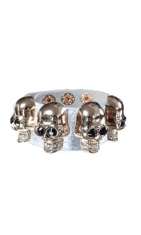 Big skull bracelet silver