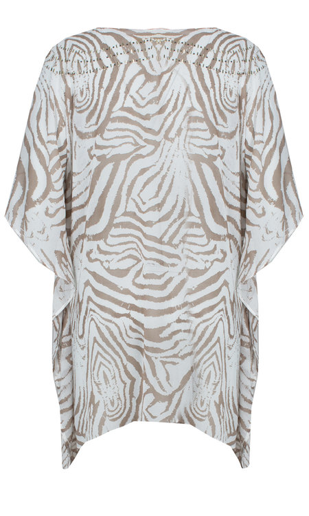 Holly tunic zebra beige